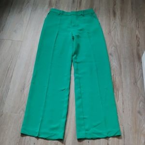Forever21 Electric Emerald Green Wide Leg Pants